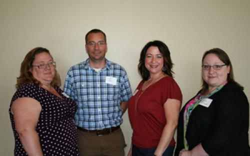 Beth O'Keefe, Chris Duncan, Vice President Shawn Knauts, and Lisa Brown