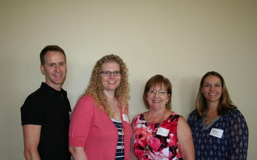 Roger, Atkinson, Julie Cummings,  Immediate Past President Lori Meyer, and Morgan Robinson