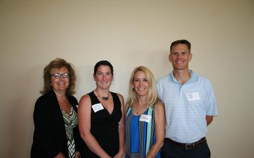 President Monica Richey Pfeiffer, Lydia Pickett,  Amy Hildebrand, and Matt Ogle