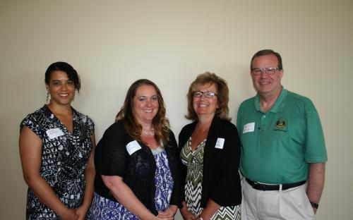 Amber Guthrie, Judy Irelan,  President Monica Richey Pfeiffer, and Dennis Fitzpatrick,