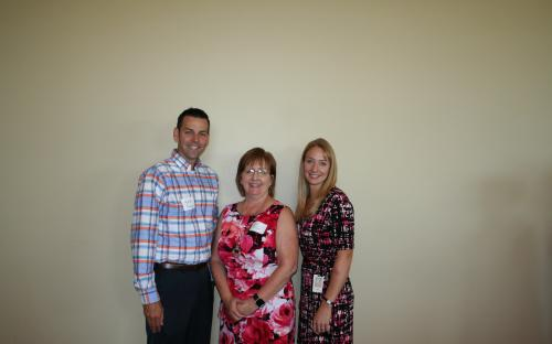 Mark Stinson,  Immediate Past President Lori Meyer, and Lacy Rice