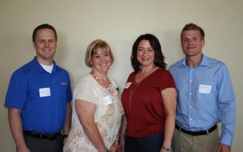 Dan Cayce, Dena Kartheiser, Vice President Shawn Knauts, and AJ Tveitnes