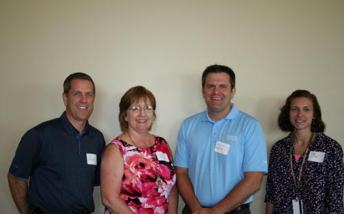 Brad McCarty, Immediate Past President Lori Meyer, Steve Wahle, and Eren Poe